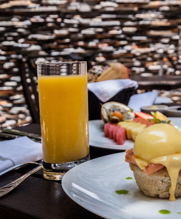 Café da manhã no Bastión Luxury Hotel Bastión Luxury Hotel Cartagena das Índias