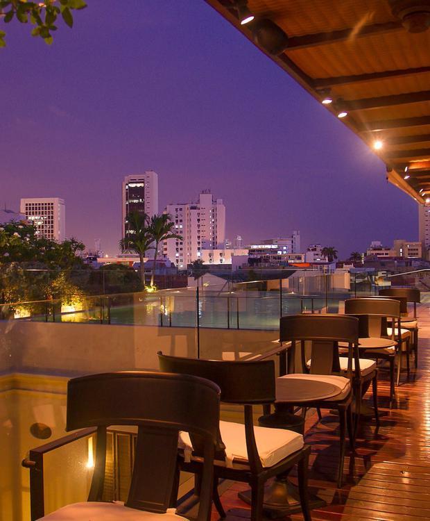 Terraço em Bastión Hotel de luxo Bastión Luxury Hotel Cartagena das Índias