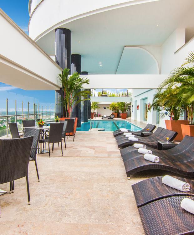 Terraço GHL Hotel Grand Villavicencio Villavicêncio