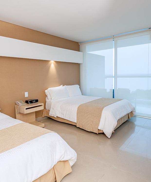 Quarto duplo Sonesta Hotel Cartagena Cartagena das Índias